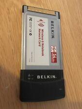 Belkin F5D7010 Wireless G Notebook Network Card 802.11g 2.4ghz
