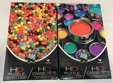 2 HD Jigsaw Puzzles Jelly Beans Paint Cans by Cardinal Easter Candy Colorful NEW