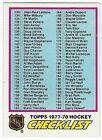 1977-78 TOPPS HOCKEY #249 CHECKLIST 133-264 - EX/EX+