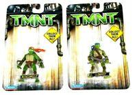 Teenage Mutant Ninja Turtle Mini Action Figure Leonardo & Michelangelo TMNT NEW
