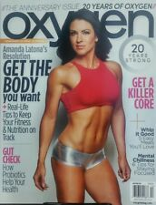 Oxygen Nov Dec 2017 Amanda Latona Get The Body You Want Fitness FREE SHIPPING sb