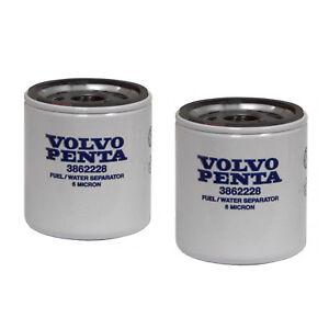 Volvo Penta Stern Drive New OEM Fuel Filter 3862228 TWO PACK 3.0L-8.2L SX