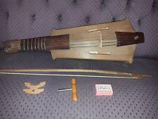 Geige Violine Mittenwald 1953 mit Tasche, Bogen und Zubehör, Zettel