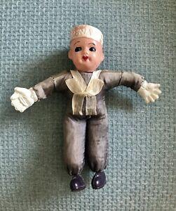 Vintage U.S. Navy Sailor Doll Celluloid Head Hands & Feet, Sawdust Body, Japan