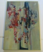 CONNORS PAINTING  ABSTRACT  COLORFUL MODERNISM VINTAGE EXPRESSIONISM LARGE OIL