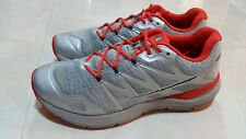 THE NORTH FACE LIGHTWEIGHT ULTRA TRAIL  MEN'S RUNNING SHOES SIZE 10 GREY/ORANGE