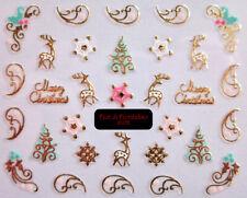 adesivi NATALE unghie natalizie Christmas nail art 3d Stickers manicure polish
