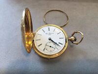 Antique 1800s Louis Reymond Locle 18K solid Yellow Gold Swiss Pocket Watch