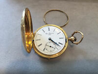VINTAGE Louis Reymond 18K solid Yellow Gold Pocket Watch