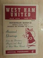 1967/68 Football League- WEST HAM UNITED v TOTTENHAM HOTSPUR, 23rd December