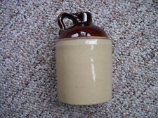 McCoy Pottery USA Miniature Brown & Beige Stoneware Crock Whiskey Jug