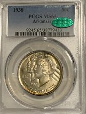 1938 50C Arkansas Commemorative Half Dollar MS65 CAC PCGS