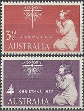 Australia 1957 CHRISTMAS (2) Fine Unhinged Mint SG 298-9