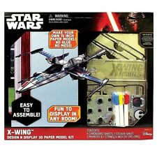 STAR WARS X-WING DESIGN-N-DISPLAY 3D CARDBOARD MODEL KIT! EASY TO ASSEMBLE!