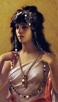 An Oriental Beauty by Spanish Artist Luis Ricardo Falero. People Repro on Canvas