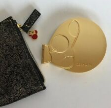 Sephora Disney Minnie Mouse Gold Beauty Compact Mirror W/case