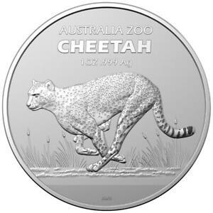 Australien - 1 Dollar 2021 - Australia Zoo (2.) - Gepard - 1 Oz Silber ST