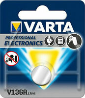 10x Varta Knopfzelle Alkali AG13, LR44, LR1154, V13GA, 4276