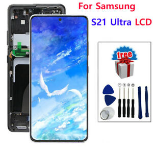 Y27 For Samsung Galaxy S21 Ultra G998 Display LCD Touch Screen Assembly+Frame QC