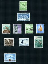 Ceylon 1951-4  selection of 10 stamps to 2r sg428 m/mint.