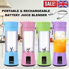 380ml Mini Juicer USB Rechargeable Bottle Fruit Smoothie Blender Mixer Portable