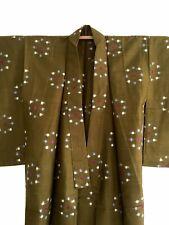 Japanese genuine Vintage Meisen Kimono Haori Jacket Unisex idyllic atmosphere