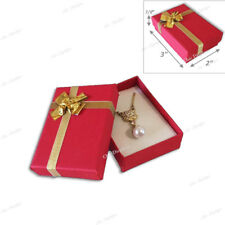 LOT OF (3) RED BOW-TIE BOXES JEWELRY BOXES DANGER EARRING BOXES PENDANT BOX