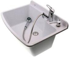 Ausgussbecken 61x44x23 Waschbecken Spülbecken inkl. Ausziehbare Einhandmischer Z