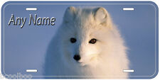 White Fox Personalized Aluminum Any Name Auto Car License Plate