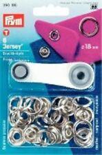 Prym 6 Nähfrei-Druckknöpfe Jersey 18 mm Ring silberfbg 390195