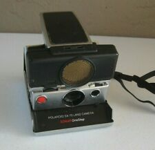Vintage Polaroid SX-70 Land Camera Sonar One Step Black Silver