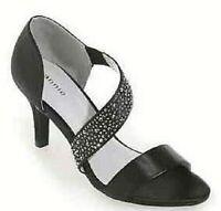 Women's Shoes Laketoa by Annie Shoes Black Heel Sandal Jeweled