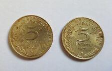 5 Centimes de Francs (x2) - 1993 MARIANNE - RÉPUBLIQUE FRANCAISE - 3 PLIS - RARE
