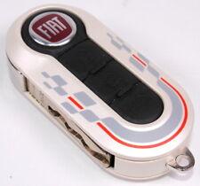 Fiat 500 Punto Single Pearlescent White Remote Key Cover New Genuine 71805962SPT