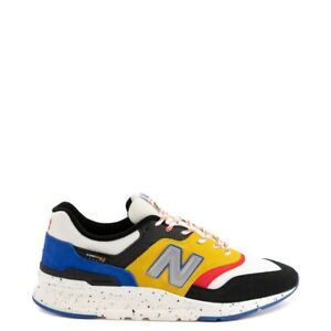 New! Mens New Balance 997H Athletic Shoes - White / Black / Yellow