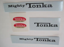 Replacement  water slide decal with black Tonka print for Mighty Tonka truck