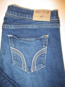 Hollister Skinny Stretch Women's Dark Blue Denim Jeans Size 9 x 26 Mint