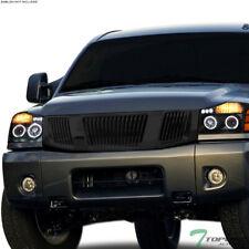 Topline For 2004-2007 Nissan Titan/Armada Vertical Front Bumper Grille - Black