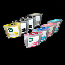 Refill cartridge pigment refill ink for HP 38XL HP38 C9412A C9413A C9414A C9415A
