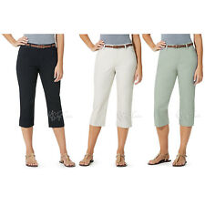 d97a3b216469a  63.00 New. Bandolino Women s Maureen Belted Capri Pant Black Size 18