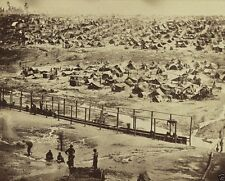 New 8x10 US Civil War Photo - Overhead view of Andersonville Prison Camp 1864