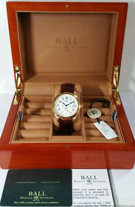 Brand New Rare Ball NM1052D Trainmaster 18k Gold Ltd Ed Chronometer Watch Box