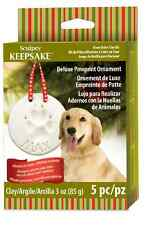 SCULPEY Deluxe KEEPSAKE ORNAMENT PAW PRINT Pet Clay Kit 5 pc Set