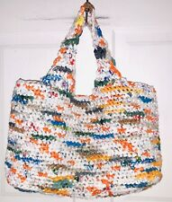 Handmade Recycled Purse Made Plastic Grocery Bags Straw Tote Weave Woven Knot