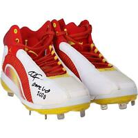 Dexter Fowler St. Louis Cardinals Signed GU White, Red, and Yellow Cleats & Insc