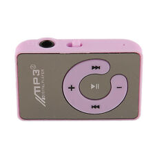 Mini Mirror Surface Clip Mp3 Sport Music Player Up To 8GB light Purple New