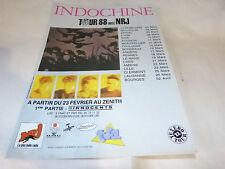 INDOCHINE - Publicité de magazine / Advert !!! TOUR 88 - NRJ !!!