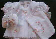 Will'beth Newborn Baby Girl Fancy Gift Diaper Set Booties Burp Cloth Dolls NWT