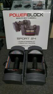 NEW IN HAND Powerblock Sport 24 Adjustable Dumbbell Pair(SET OF 2) + FREE SHIP🔥