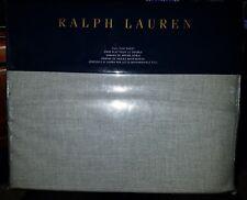 Ralph Lauren Gray Haberdashery Solid Full Flat Sheet NIP